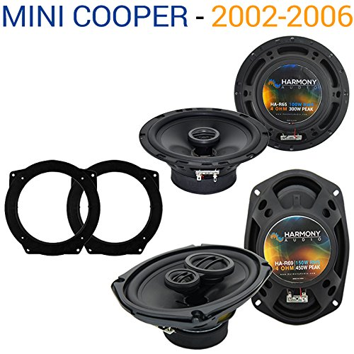 Fits Mini Cooper 2002-2006 Factory Speaker Replacement Harmony R65 R69 Package