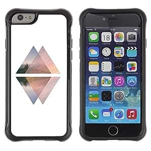 Suave TPU GEL Carcasa Funda Silicona Blando Estuche Caso de protección (para) Apple Iphone 6 / CECELL Phone case / / Pyramid White Black Up Down Elevator /
