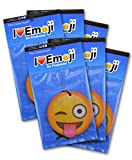 Emoji Tongue Out Wink Air Freshener Pina Colada Scent 6-Pack
