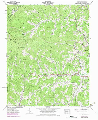 YellowMaps Bald Creek NC topo map, 1:24000 Scale, 7.5 X 7.5 Minute, Historical, 1939, Updated 1979, 27 x 22 in - Paper