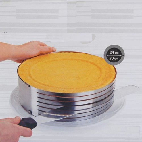 Shop24Hrs 9-12Inch Stainless Steel Circle Mousse Ring Size Adjustable Cake Mould