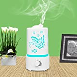 Best Humidifier for Dry Skin TUPELO 1500ml Air Humidifier with LED Lights,Best Portable Water Diffuser for Home Use, Moisturize Dry Room, Soft Skin, Cure Dry Throats and Coughs, Health Aroma Therapy with Essential Oils