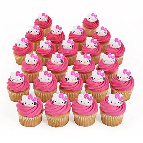 Hello Kitty Cupcake Rings - 24 ct - Hello Kitty Cupcake Toppers