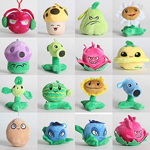 RAFGL Skyleshine 14Pcs/Lot Plants Vs Zombies Stuffed Toys Plush Doll Keychain Fashion Games PVZ Soft Kids Toys Birthday Gift S1289 Must-Have Friendship Gifts Childrens Favourites Superhero Stickers by RAFGL