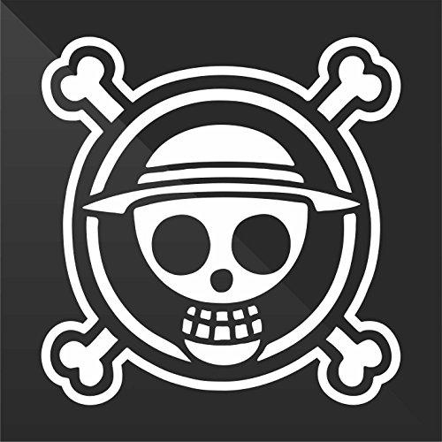 Sticker Pirata Pirate One Piece Decal Auto Moto Casco Wall Camper Bike Adesivo Adhesive Autocollant Pegatina Aufkleber cm 10