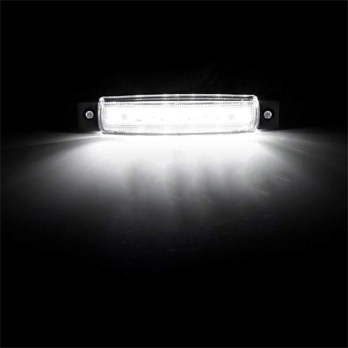 6 LED Auto Car Truck Trailer Indicadores laterales de luz L/ámpara de luz 12V Luz s/úper brillante de bajo consumo de energ/ía a prueba de agua