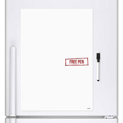 CKB Ltd A4 en blanco Hoja de señalización pizarra blanca nevera Imán de junta magnética de borrado en seco con marcador borrado en seco tablero blanco ...