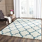 Cheap Safavieh Kids Shag Collection SGK569C Ivory and Blue Area Rug (4′ x 6′)