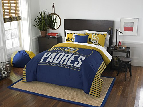 Diego Set Bedding - MLB San Diego Padres Grandslam Full/Queen Comforter and 2 Sham Set
