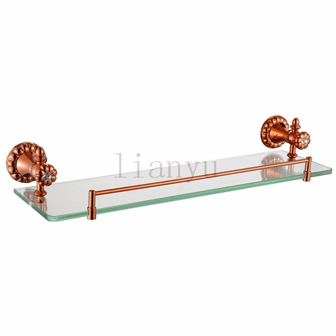 LAONA European copper rose gold diamond petal base bathroom towel suit thin soap box,Rack 1