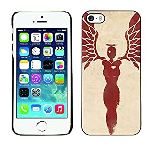 Shell-Star Arte & diseño plástico duro Fundas Cover Cubre Hard Case Cover para Apple iPhone 5 / iPhone 5S ( Angel Heart Blood Wings Feathers )