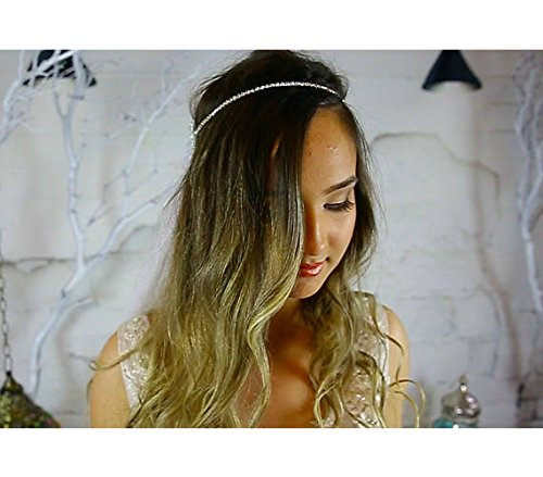 Crystal Bridal Headband / Halo / Statement Headpiece, Couture Head Chain, Hair Jewelry for the Bride, Boho Hair Jewelry, Halo, Designer