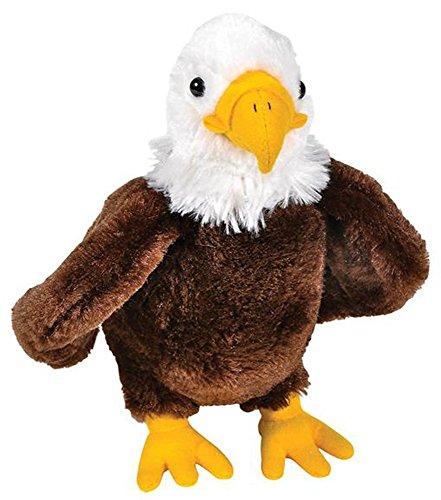Wildlife Tree 8 Inch Bald Eagle Stuffed Animal Floppy Plush