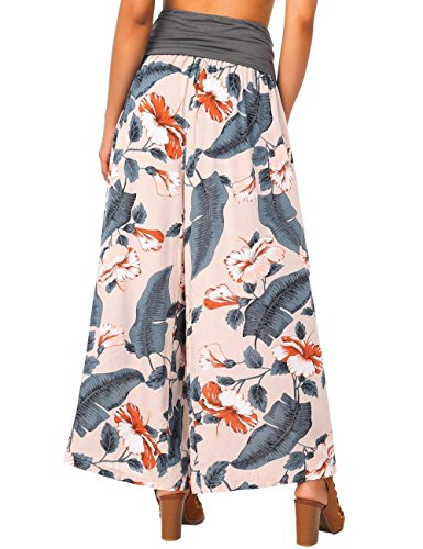 Pantaloni Farbe Baggy Pantaloni Accogliente High Huixin Palazzo Aprikosen Femminile Costume Pantaloni Libero Donna Stampato Pantaloni Leggero Tempo Waist Larghi Estivi Elegante wzztPxnqRp