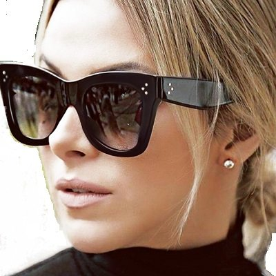 Women Popular Brand Designer Luxury Sunglasses Lady Summer Style Sun Glasses Female Rivet Shades - Name Wholesale Brand Glasses