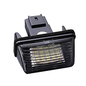 TOOGOO 2pzs 18 LED SMD Lampara luz de placa de numero de matricula para Peugeot 206 Citroen C3 C4 5 Xsara 1997-2006: Amazon.es: Coche y moto