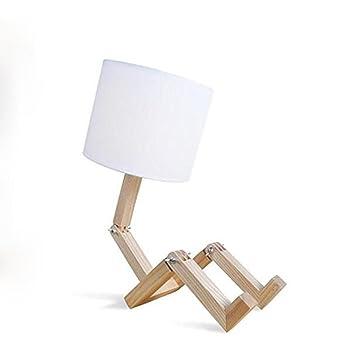 De Bois Robot Oofwy En Chevet Lampe Moderne Table Style xBeQrdCoW