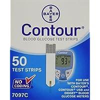 Bayer Contour Glucosa en sangre, 50 tiras reactivas