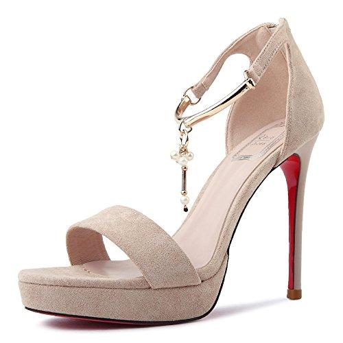 Heel Home De De Profundidad GAOLIM colorG Sandalias Zapatos y Mujer Alta Shoes Diario Tacones Verano v8vIwqxF