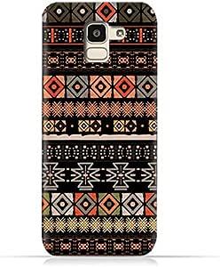 AMC Design Samsung Galaxy J6 2018 TPU Silicone Protective case with Boho Seemless Pattern Design