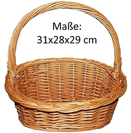 Präsentkorb, Weidenkorb, Geschenkkorb, Körbchen, Natur - Größe S (31x28x29) Präsentkorb Körbchen Naturprodukt