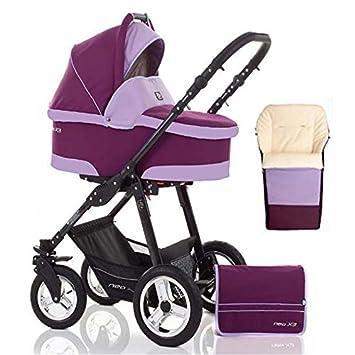 2 In 1 Kinderwagen Neo X3 Kinderwagen Sportwagen Fusssack Gratis Zubehor In Farbe Bordeaux Lavendel Amazon De Baby