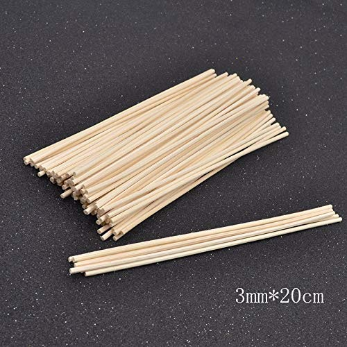 Yummi697 100Pcs Rattan Replacement Sticks Premium Reed Fragrance Diffuser Refill Incense 3Mm 3.5Mm by Yummi697