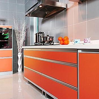 Yazi Drawer Wardrobe Shelf Liner Gloss Self Adhesive PVC Kitchen Cupboard  Door Cover ,24x98 Inch