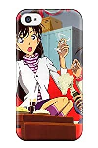 Rugged Skin Case Cover For Iphone 4/4s- Eco-friendly Packaging(conan And Ran Mouri Edogawa Detective Meitantei Anime Other)