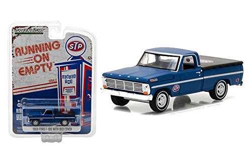 Greenlight 1:64 Running on Empty Series 2 1969 Ford F-100 with Bed Cover Step Diecast Vehicle