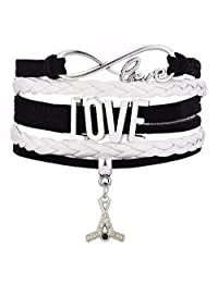 Adorable Hockey-Stick Pattern Pendant Multi-Layer Braided Bracelet Sports Jewelry for Girls