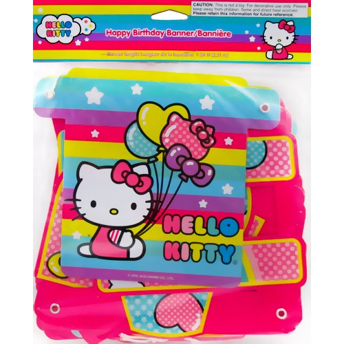 Hello Kitty 'Balloon Rainbow' Happy Birthday Banner (1ct)*