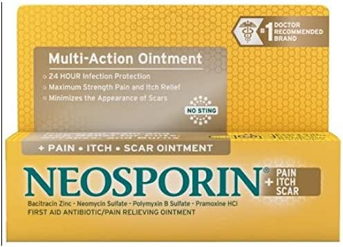 Neosporin Pain Itch Scar Antibiotic Ointment for Infection Prevention and Pain Relief, .5 oz