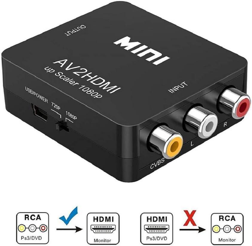 Conversores de Vídeo,Asbter HD 1080P HDMI a AV / RCA CVBS ...