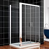 1500x760mm Sliding Shower Enclosure Cubicle Double Door+Side Panel+Stone Tray by sunny showers