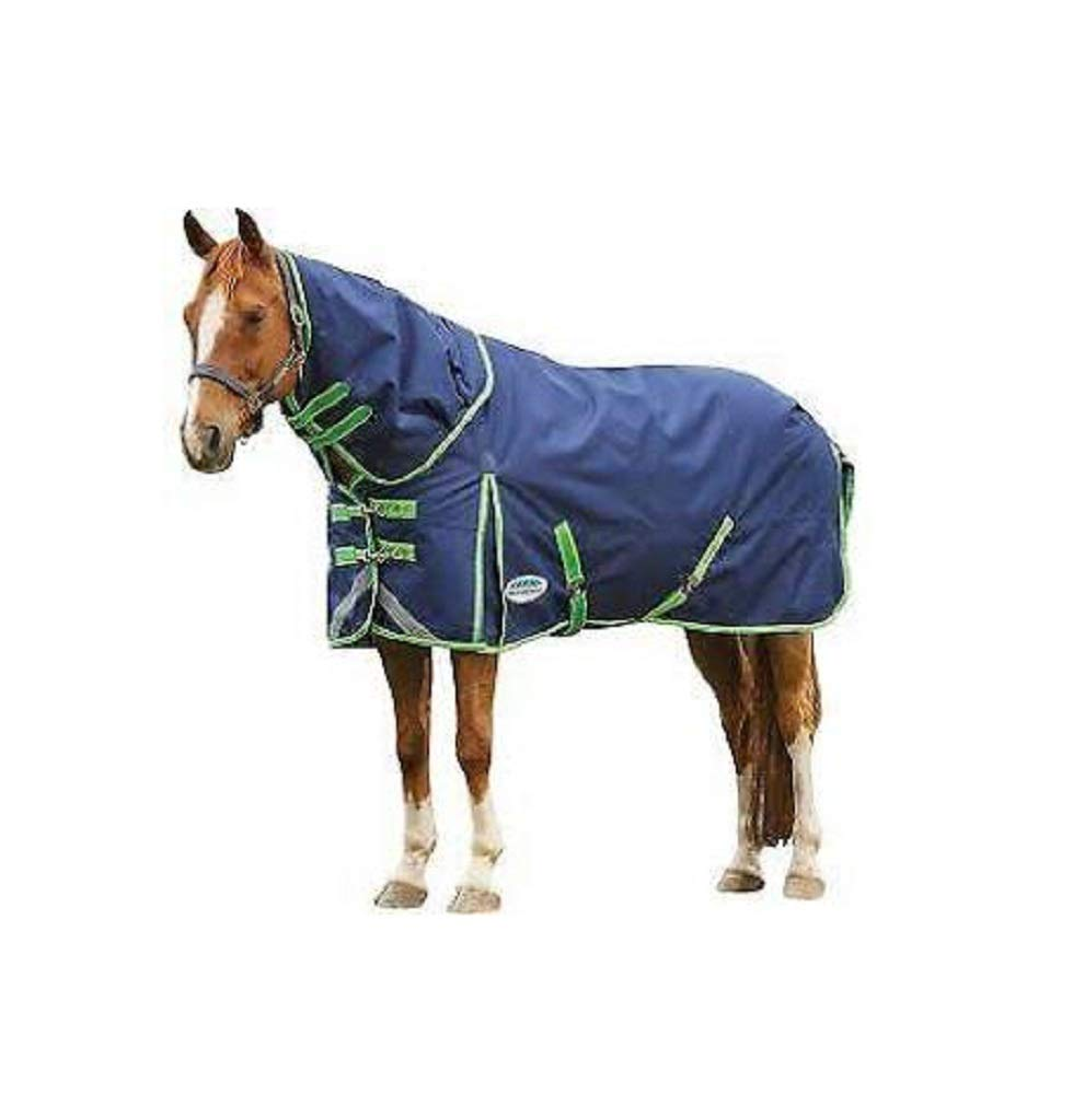 Weatherbeeta Comfitec Plus Dynamic Standard Neck Lite Navy/Lime Plaid 72