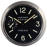 Panerai Luminous Silent Sweep Wall Clock, Silver+Black