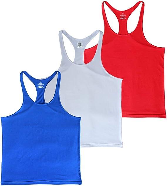Muscle Alive Plain Bodybuilding Stringer Tank Tops Men Cotton 2 cm Shoulder Strap