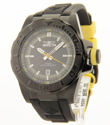 Invicta Men's 12165 Pro Diver Black Dial Black Polyurethane Watch