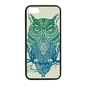 Cute Owl Custom For SamSung Galaxy S4 Phone Case Cover (Laser Technology) PC Skin