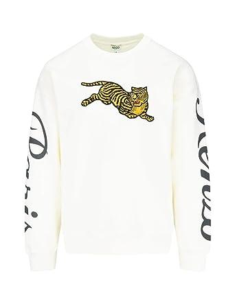 2256158bd Kenzo - Sweat-Shirt - Homme Blanc Weiß - Blanc - X-Large: Amazon.fr ...