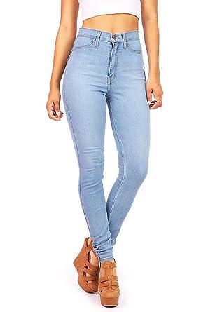 9a0a91860 Vibrant Women's JuniorsClassic High Waist Skinny Jeans, 1, Light Denim