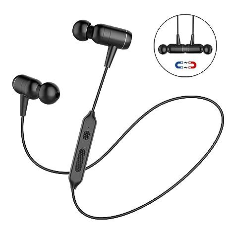 Cuffie Bluetooth Magnetiche Auricolari Wireless Sport Resistente al Sudore  e al Rumore con Microfono per iPhone b2f668dd171d