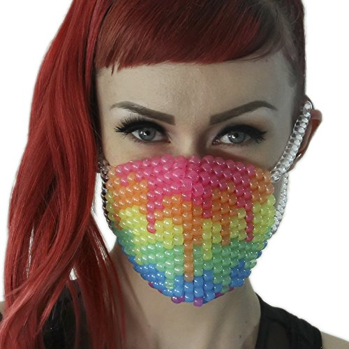 Kandi Gear Rave Masks, Glow In The Dark Kandi Masks, Rave Gear and Rave Outfits -