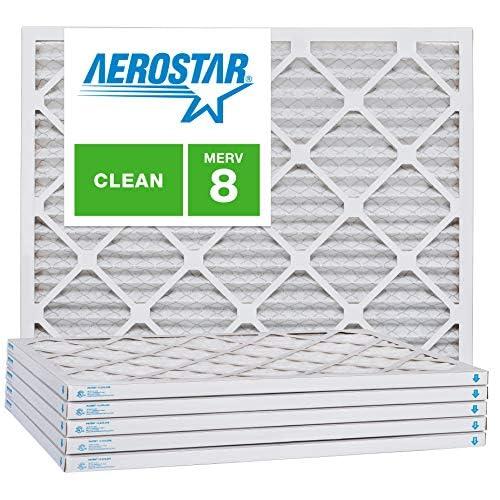 6x10x1 AC and Furnace Air Filter by Aerostar MERV 8 Box of 12