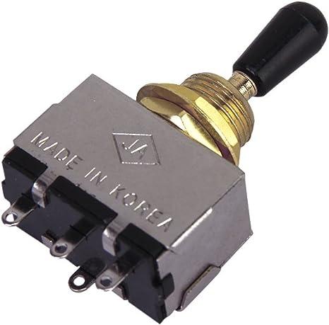 3-way Caja De Interruptores Cap W/El Oro Negro De Palanca Para La Guitarra Eléctrica: Amazon.es: Instrumentos musicales