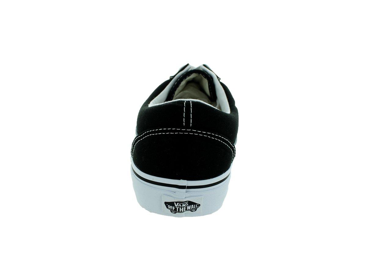 Vans Unisex Old Skool Classic Skate Shoes B075W7GV1L 13 M US Women / 11.5 M US Men (Canvas) Black/True White