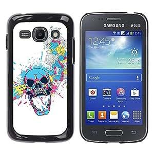 Be Good Phone Accessory // Dura Cáscara cubierta Protectora Caso Carcasa Funda de Protección para Samsung Galaxy Ace 3 GT-S7270 GT-S7275 GT-S7272 // Floral Skull Blast