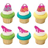 Leopard Print Purse and Shoe Cupcake Picks - 24 pcs