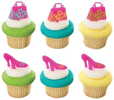 Leopard Print Purse and Shoe Cupcake Picks - 24 ()